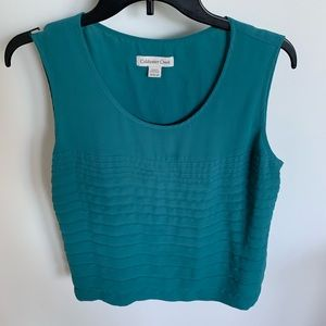 Coldwater Creek Sleeveless top green size M